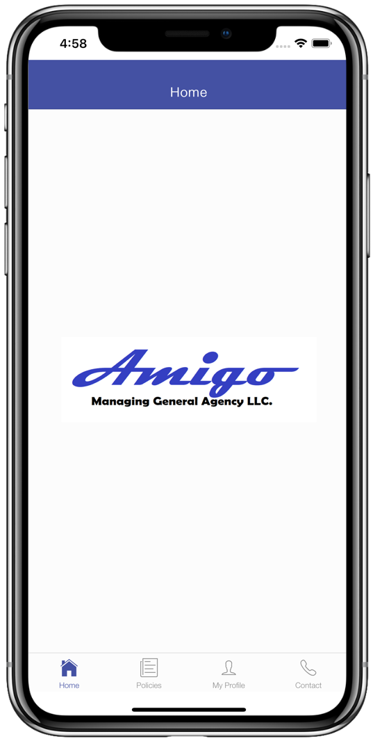 Amigo Mobile App Home Page